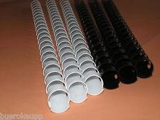 10x Binderücken 10mm 21 Ringe weiß Spiralbindung Bindespirale Plastik NEU