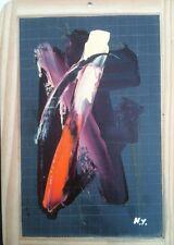 Henri Yeru : Peinture Sur Ardoise Signée Datée Titrée
