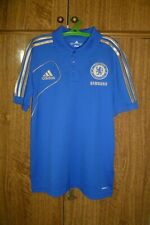 Chelsea Adidas Training Polo Football Shirt Home 2012 Soccer Blue Men Size S
