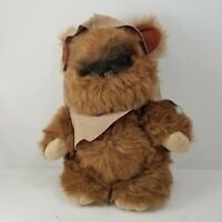 "Vintage Star Wars WICKET THE EWOK with Hood by Kenner 1983 15"" Plush."