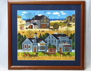 "Charles Wysocki ""Devilstone Harbor"" Limited Edition Hand Signed Print Art"