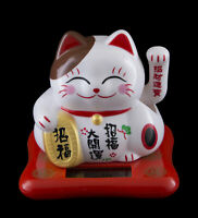 Figura Gato Japonés Bobtail Solar 7.5 CM Maneki Neko Botones Animada 40688 Z8
