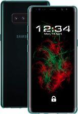 Funda para Samsung Galaxy Note 8 (Transparente, Turquesa) Cubierta del iPad