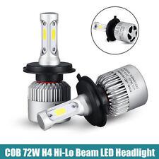 1 Pair Car H4 HB2 9003 LED Bulbs Headlight Hi/Lo Conversion Kit 80W Canbus Lamps
