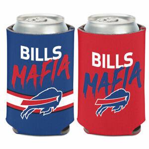 BUFFALO BILLS MAFIA DOUBLE SIDED CAN BOTTLE COOZIE COOLER HOLDER NFL LICENSED