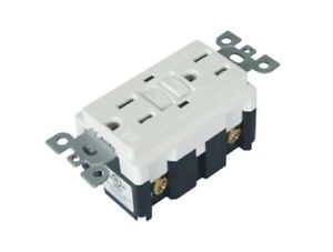 15 Amp GFCI Outlet Receptacle White