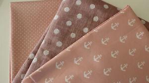 Baumwollstoff 1 x  50 x  140/150 Jacquard-Baumwolle 2 + BW rosa