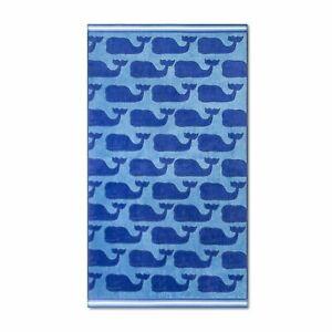 Vineyard Vines Target Exclusive Whale Print Beach Towel Blue