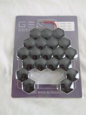 Black Wheel Bolt Nut Covers GEN2 Wheels 21mm For Hyundai i20 Coupe 15-17 - NEW