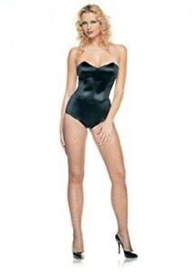 Strapless Teddy Body Suit W/ Boning Blk Nylon/Spandex Sexy One Pc Body Suit