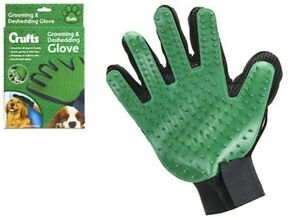 Crufts Dog Grooming Glove Mitt Pet Dog Cat Groom Stripping Hair Remover Brush