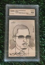 2012 Leaf National DIDDY Original 1/1 Hand Drawn B&W Art Sketch Card Kevin John