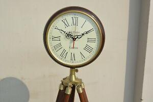 Nautical Style Floor Clock Designer Clock On Tripod Home Decor Clock Gift Item