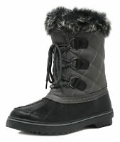 DREAM PAIRS Women Winter Insulated Waterproof Faux Fur Lined Mid Calf Snow Boots
