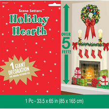 "65"" Holiday Hearth Fireplace Christmas Party Decoration Scene Setter Add-on Prop"