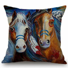 HORSE & WESTERN GIFTS HOME DECOR HORSE CUSHION COVER 18 inch 45cms NATIVE USA