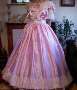 CD ADULT BABY SISSY PINK EVENING GOWN
