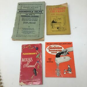 Set of 4 Vintage 1950's Booklets Drinks Mixers Jokes Household Hints