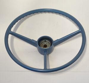 NOS Blue 3 Spoke Steering Wheel For 1967 1968 Chevrolet GMC Pickup Truck OEM 67