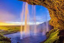 Jigsaw Puzzle Iceland Waterfall Falls Cascade Baltic Travel Landmark 500-Pieces