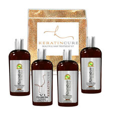Keratin Cure Strong Straightening/ Repair Hair Treatment Chocolate V1 5pc Kit 4z