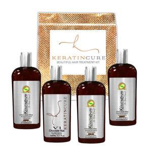 Keratin Cure Strong Straightening/ Repair Hair Treatment Chocolate V1 5pc Kit 4z