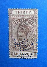 1882 30S NEW ZEALAND STAMP DUTY REVENUE SCOTT# AR17 BAREFOOT# 250 USED   CS33295