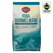 Wellsley Farms Kona Gourmet Blend Whole Bean Coffee, 32 oz