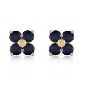 1.15 CTW 14k Solid Yellow Gold Last Person I Kiss Sapphire Earrings