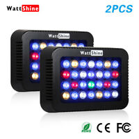 2PCS Dimmable LED Aquarium Light Colorful Lights For Coral Reef Fish Marine 140W