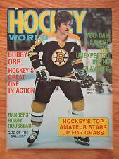 BOBBY ORR Hockey World (May 1974) Magazine BOSTON BRUINS