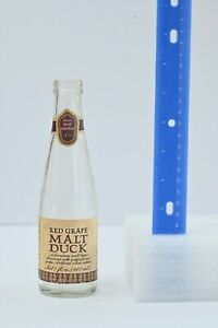 Red Grape Malt Duck, Vintage Beer Bottle 1970s