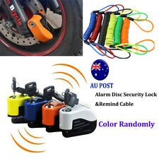 Alarm Disc Security Lock + Remind Cable Motorcycle Dirt Road Bike Brake Rotor MN