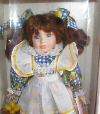 Old Fashioned Porcelain Girl/Elizabeth/Still Attached To Her Card/Mint/16 Inches
