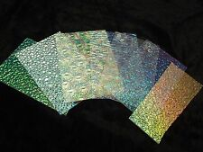 Dichroic Glass Wissmach Thin Textured Pack 1/2 Pound on Clear base 90 Coe Scrap
