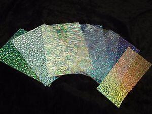 Dichroic Glass Wissmach Clear Thin Textured Pack 1/2 Pound on Clear 96 COE Scrap
