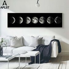 Large Moon Phase Canvas Print Painting Crescent Eclipse Poster Printings Picture