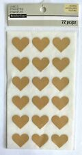 (1) package of scrapbooking stickers - NEW -  Heart Labels