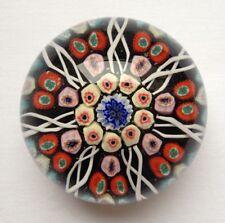 STUNNING Vintage Strathearn Millefiori Scottish Art Glass Paperweight With Label