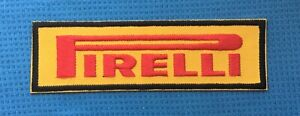 RED PIRELLI TYRE TYRES RACING TEAM MOTOR SPORTS CAR F1 BADGE IRON SEW ON PATCH