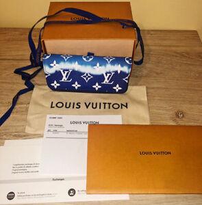 Louis Vuitton Escale Blue Sun Glasses Case GI0474  TIE DIE Wallet Pouch Bag