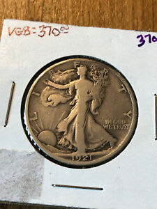 1921D Walking Liberty Half Dollar VG