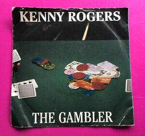 """E966 The Gambler, Kenny Rogers, 7""""Single Excellent Condition"""