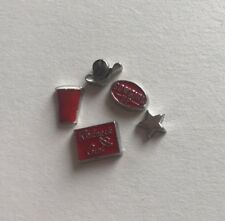 NEW Floating Locket Charms * Cowgirl Up Red Set 2 *