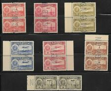 Venezuela: 1938; 7 pairs, perf GN, different, High value of oil set, EBV222