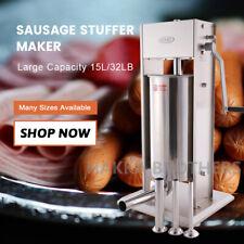 Hakka 33lb15l Sausage Stuffer Manual Vertical Stainless Steel Meat Filler Maker