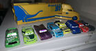 Disney Dinoco 51 Cars Cruz Ramirez' Hauler Semi Truck & Lightning McQueen Lot