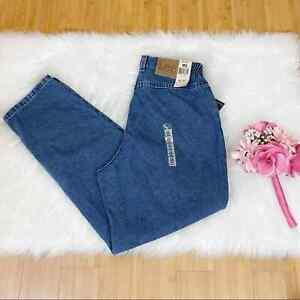 Lee Relaxed Fit Hi Rise Pepper Stone Wash Paperbag Jeans NWT Women's 12 Petite
