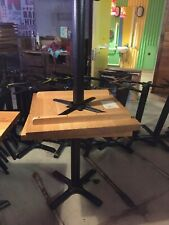 More details for 15 full wood square restaurant tables - beautiful quality