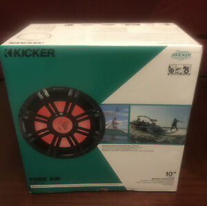 "Kicker 45KMF104 Marine Audio Boat 10"" Free Air Sub 500 Watt 4 Ohm Subwoofer New"